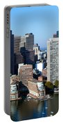 Downtown Boston Skyline Portable Battery Charger