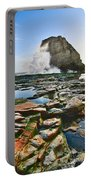 Dramatic View Of Shark Fin Cove In Santa Cruz California. Portable Battery Charger by Jamie Pham