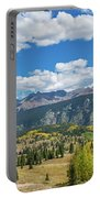 Elevated View Of Trees On Landscape Portable Battery Charger