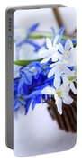 First Spring Flowers Portable Battery Charger