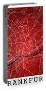 Frankfurt Street Map - Frankfurt Germany Road Map Art On Colored Portable Battery Charger