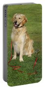 Golden Retriever Dog Portable Battery Charger