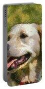 Golden Retriever Portrait Portable Battery Charger