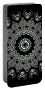 Kaleidoscope Ernst Haeckl Sea Life Series Black And White Set 2  Portable Battery Charger
