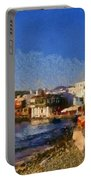 Little Venice In Mykonos Island Portable Battery Charger