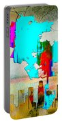 Los Angeles Map And Skyline Portable Battery Charger