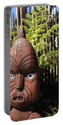 Maori Carving Portable Battery Charger by Les Cunliffe