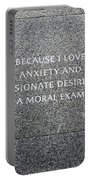 Martin Luther King Jr Memorial Portable Battery Charger by Allen Beatty