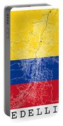 Medellin Street Map - Medellin Colombia Road Map Art On Colored  Portable Battery Charger