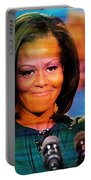 Michelle Obama Portable Battery Charger by Marvin Blaine