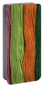 Multicolored Embroidery Thread In Rows Portable Battery Charger