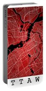 Ottawa Street Map - Ottawa Canada Road Map Art On Colored Backgr Portable Battery Charger