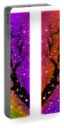 4-panel Snow On The Colorful Cherry Blossom Trees Portable Battery Charger
