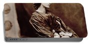 Portrait Of Jane Morris Portable Battery Charger
