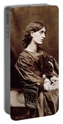 Portrait Of Jane Morris Portable Battery Charger by John Parsons