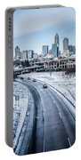 Rare Winter Scenery Around Charlotte North Carolina Portable Battery Charger