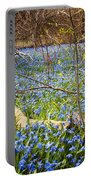 Spring Blue Flowers Wood Squill Portable Battery Charger