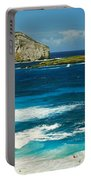 Surf On The Beach, Oahu, Hawaii, Usa Portable Battery Charger