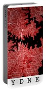 Sydney Street Map - Sydney Australia Road Map Art On Colored Bac Portable Battery Charger