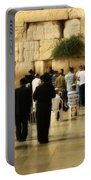 Praying At The Western Wall Portable Battery Charger