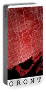Toronto Street Map - Toronto Canada Road Map Art On Colored Back Portable Battery Charger