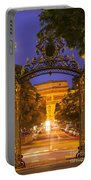 Twilight At Arc De Triomphe Portable Battery Charger