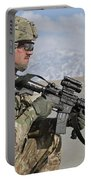 U.s. Army Specialist Provides Security Portable Battery Charger