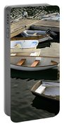View Of Boats At A Harbor, Rockland Portable Battery Charger