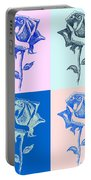 4 Warhol Roses By Punt Portable Battery Charger