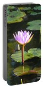 Pond Of Water Lily Portable Battery Charger