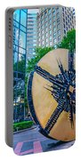 Skyline And City Streets Of Charlotte North Carolina Usa Portable Battery Charger