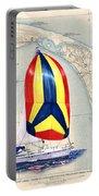 39 Foot Beneteau Cape Cod Chart Art Portable Battery Charger