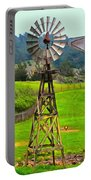Painting San Simeon Pines Windmill Portable Battery Charger