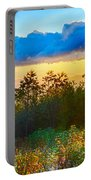 Blue Ridge Parkway Late Summer Appalachian Mountains Sunset West Portable Battery Charger
