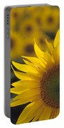 Close-up Of Sunflowers In A Field Portable Battery Charger