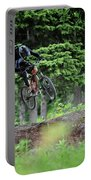 Extreme Biking In Alaska Portable Battery Charger