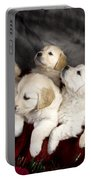 Festive Puppies Portable Battery Charger