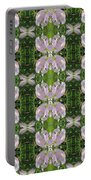 Flowers From Cherryhill Nj America Silken Sparkle Purple Tone Graphically Enhanced Innovative Patter Portable Battery Charger