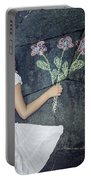 Flowers Portable Battery Charger by Joana Kruse