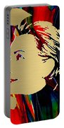 Hillary Clinton Gold Series Portable Battery Charger by Marvin Blaine