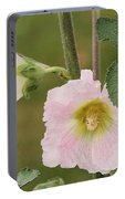 Hollyhock Named Indian Spring Pink Portable Battery Charger