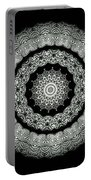 Kaleidoscope Ernst Haeckl Sea Life Series Black And White Set On Portable Battery Charger