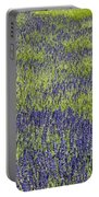 Lavendar Field Rows Of White And Purple Flowers Portable Battery Charger