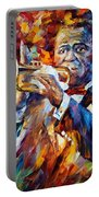 Louis Armstrong Portable Battery Charger by Leonid Afremov