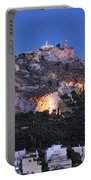 Lycabettus Hill During Dusk Time Portable Battery Charger
