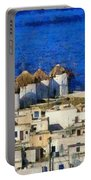 Mykonos Town Portable Battery Charger