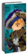 Pomeranian Art Canvas Print Portable Battery Charger