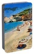 Porto Katsiki Beach In Lefkada Island Portable Battery Charger