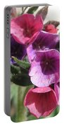 Pulmonaria Named Raspberry Splash Portable Battery Charger