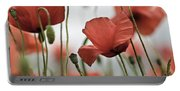Red Poppy Flowers Portable Battery Charger